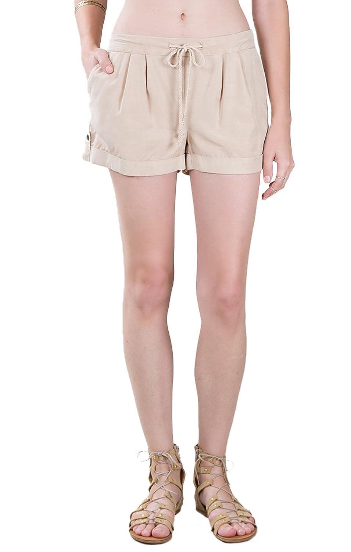 Black Swan BS161447 Eponine Frappe Pull On Drawstring Shorts