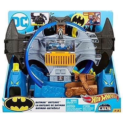 Hot Wheels City Batman Batcave Track Set, Multicolor: Toys & Games
