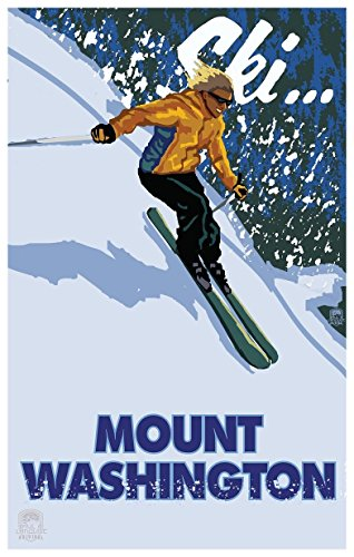 Mt Washington Vancouver Island British Columbia Canada Girl Skier Travel Art Print Poster by Paul A. Lanquist (12
