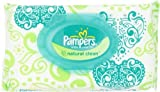 Pampers Natural Clean Wipes 1x Travel Pack 72 Count (Pack of 8) by Pampers