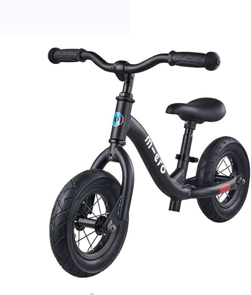 GASLIKE Bicicletas de Equilibrio sin Pedal de Freno de Mano con el Marco de Acero al Carbono Ajustable del Asiento del Manillar Adecuado para Dos niños de Ruedas Scooter