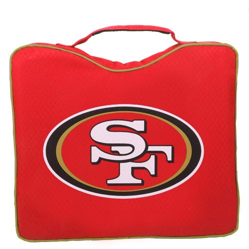 NFL Lightweight Stadium Bleacher Seat Cushion with Carrying Strap, San Francisco 49ers
