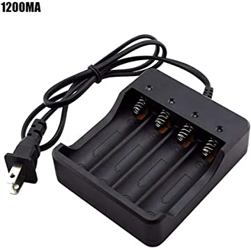 4-Slot Smart Battery Charger LED indicator For 18650 Li-ion Rechargeable Battery