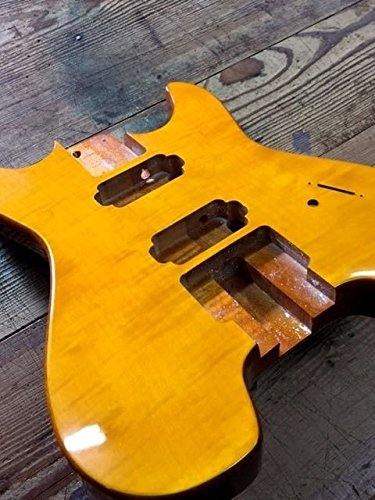 NEW 2 PIECE MAHOGANY HEADLESS GUITAR BODY Natural HH (steinberger GM 7 Style)