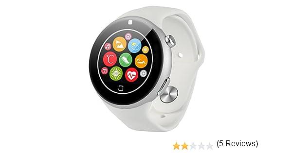 Aiwatch C5 Smartwatch Bluetooth, Compatible con IOS 7.0 Android 4.4 Bluetooth 3.0 Smartphones, Control Remoto de Cámara, Pulsómetro, OTA Podómetro, ...