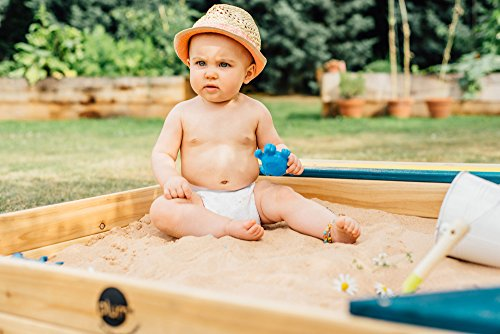 Plum Store-it Wooden Sand Box with Storage Bench and Seating by Plum (Image #4)