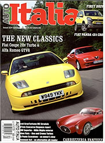 Auto Italia Magazine (October 2014) Single Issue Magazine – 2014