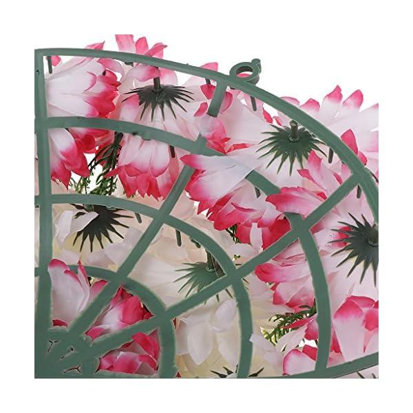 Baoblaze-Artificial-Handcraft-Carnation-Flower-Arrangements-in-Grave-Cemetery-Wreath-Flower