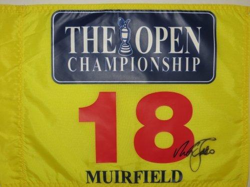 NICK FALDO Signed Muirfield BRITISH OPEN Golf Tournament Pin FLAG Masters Pga