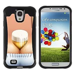 "Hypernova Defender Series TPU protection Cas Case Coque pour Samsung Galaxy S4 IV I9500 [Divertido de la cerveza Oktoberfest Brest""]"
