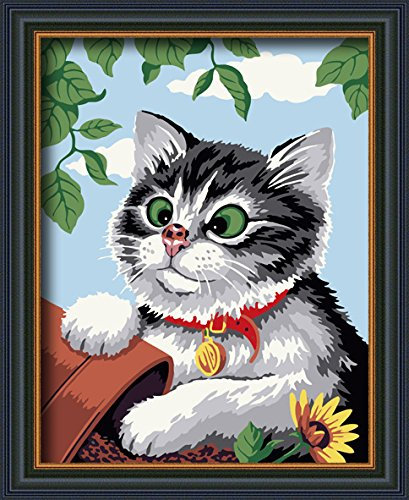 paint by numbers Naughty cat 16-by-20 inches Frameless.