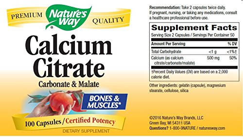 Nature's Way Calcium Citrate Complex