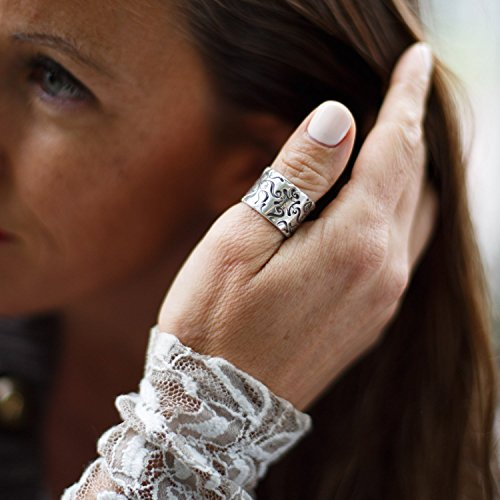 Details about  /T/&R Singer Overlaid Mountain Sterling Silver and 12K Gold Ring Size 7 and 12