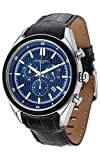 Jorg Gray JG6900-22 Men's Watch Chronograph Blue Dial With Integrated Black Genuine Leather Strap