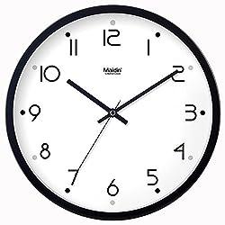 Modern living room moisture resistant wall clock stylish innovative modern clocks digital simple personality, silence hanging table 566,8 inch, black -566