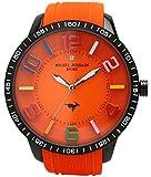 michel Jurdain watch sports 1P diamond Bikkufeisu silicon watch Orange × orange MJ-7700-8 Men's