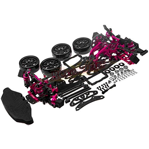 - Hobbypower 1/10 Alloy & Carbon RWD Drift Racing Car Frame Body Kit for SAKURA D4