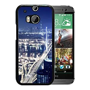 New Beautiful Custom Designed Cover Case For HTC ONE M8 With Port At Night Phone Case