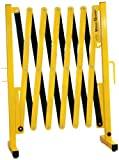 Versa-Guard VG-1000 Aluminum/Steel Expandable Portable Safety Barricade with Stationary Feet, 37'' Height, 17'' to 136'' Expanded Height, Yellow/Black