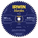 Irwin Tools  1807383 Marples Laser Cut 12-Inch 60-Tooth Alternate Tooth Bevel Circular Saw Blade