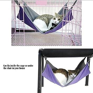 Heylookhere Hamaca para Gatos con Mascota, Cama Colgante para Mascotas, Malla Transpirable 2 en