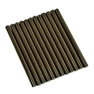 "GlueSticksDirect Brown Dark Chocolate Colored Glue Stick mini X 4"" 12 sticks"