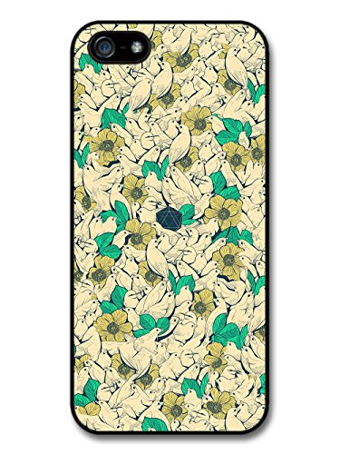 Bird Collage Illustration with Geometric Shape Design case for iPhone 5 5S