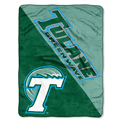 The Northwest Company Officially Licensed NCAA Tulane Green Wave Halftone Micro Raschel Throw Blanket, 46