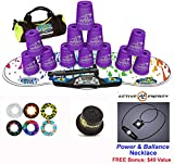 Speed Stacks Combo Set ''The Works'': 12 PURPLE 4'' Cups, RAINBOW DROP Gen 3 Mat, G4 Pro Timer, Cup Keeper, Stem, Gear Bag + Active Energy Necklace