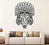 Art of Decals Vinyl Wall Decal African Mask Ethnic Style Room Africa Stickers Large Decor 888