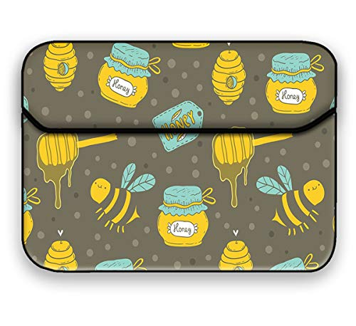 Theskinmantra Honey Laptop Sleeve , Slip on Sleeve case for All Brand 15 to 15.6 inch Laptop