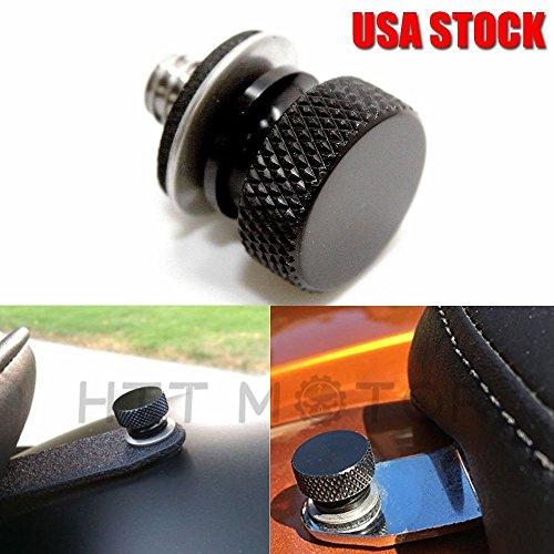 Billet Aluminum Luggage Rack (HTT- 1x For Harley Davidson Dyna Sportster Softail Black Billet Aluminum Seat Bolt)