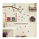 how to make shabby chic furniture NEEKEY Wall Decor Sticker Cartoon Owl Birds Branch Removable Kids Decor Mural Wall Stickers Decal/F