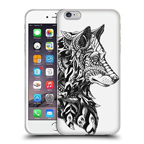 Officiel Bioworkz Profil De Loup Tête Animale Étui Coque en Gel molle pour Apple iPhone 6 Plus / 6s Plus