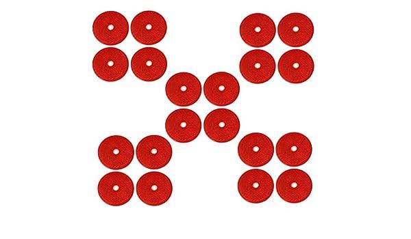 AERZETIX: 20x Catadioptrico adhesivo redondo rojo 61mm para coche ...