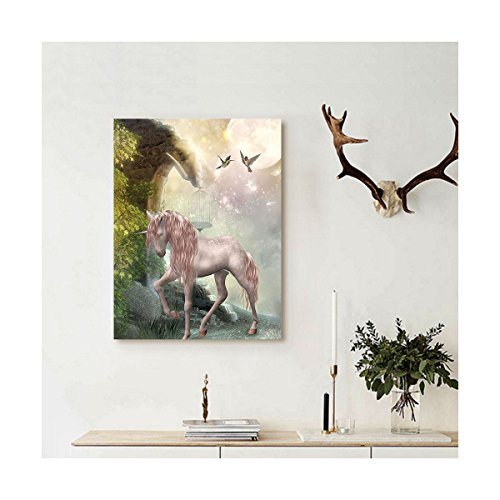 Liguo88 Custom canvas Hummingbirds Decorations Wall Hanging