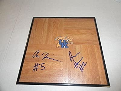 Andrew & Aaron Harrison Signed Framed 12x12 Floorboard Kentucky Wildcats Proof - Autographed College Floorboards
