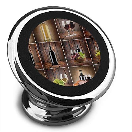 (Baerg Universal Magnetic Phone Car Mounts Magnet Holder Grape Wines Magnetic Mount for Phone 360°)