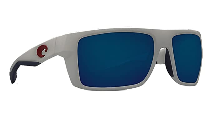ad098b1179b1 Image Unavailable. Image not available for. Color: Costa Del Mar Motu  Sunglasses USA White Frame Blue ...