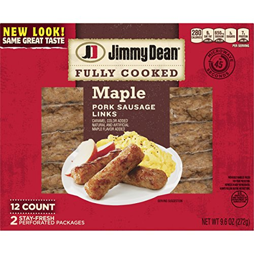 (Jimmy Dean, Fully Cooked Pork Sausage Links, Maple, 9.6 oz)