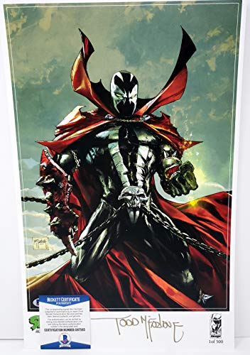 Todd McFarlane Auotgraphed 11x17 Litho Print Spawn Road to #300 Fan Expo Canada 2019 Beckett