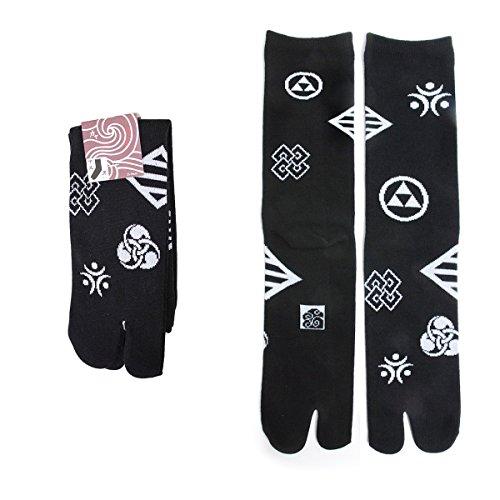 Vigo Flip-Flop Socks, Japanese Tabi Toe Socks (Women Size 8.5-10.5/ Men Size 8.5-12/ EU 39-44, Crest) -
