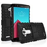 LG G4 Case, MagicMobile® Hybrid Ultra Protective [Shockproof] Case for LG G4 Dual [Heavy Duty] Armor Impact Resistant Layers Rugged Plastic and Flexible TPU Case for LG G4 with Kickstand - Black