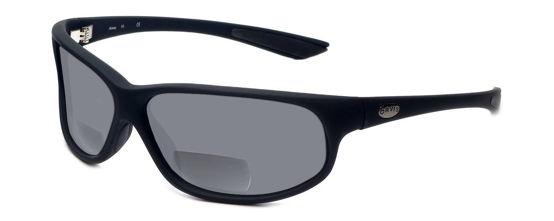 Orvis Midway Polarized Bi-Focal Reading Sunglasses in Matte-Black w/ Grey Lens +3.00