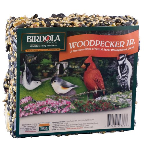 Birdola Woodpecker Junior Seed Cake, 8-Ounce, 3.8 x 1.5 x 4.4 inches
