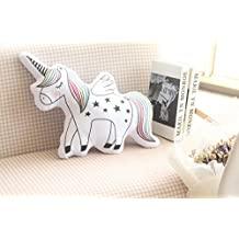 "DPIST 16"" Unicorn Emoji Throw Pillow Stuffed Animals Courch Plush Toy ,Home Decorations and Unicorn Party Supplies, Perfect Unicorn Gifts!"