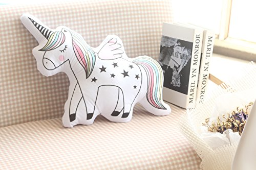DPIST 16 Unicorn Emoji Throw Pillow Stuffed Animals Courch Plush Toy ,Home Decorations and Unicorn Party Supplies, Perfect Unicorn Gifts!