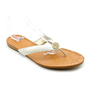 7d6c8edba953 Coach A0904 Sara Patent Women Sandals Size US 5 Chalk  Apparel   Apparel