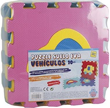 PICCOLOTOYS Tappeto Puzzle Veicoli Gomma Eva 10 pz