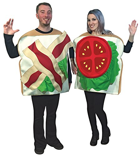 UHC Bacon & Lettuce w/ Tomato Couples Funny Theme Party Adult Halloween Costume, OS]()